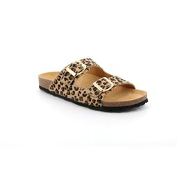 CB2457 flip flop donna leather beige multi 40