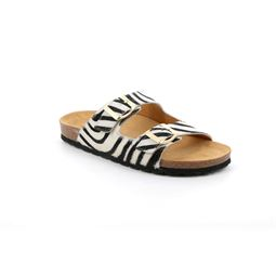 CB2457 flip flop donna leather bianco multi 40