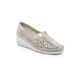 Slip on in vernice con forature