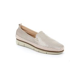 Slip on in pelle con microforature