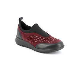 Sneaker multi materiale a calzata slip on
