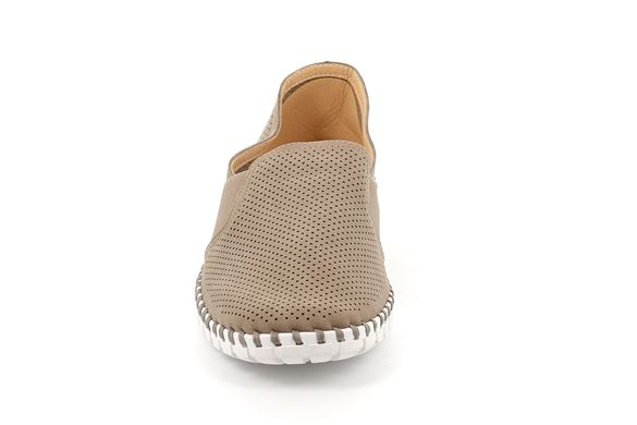SCARPA UOMO SINT. TAUPE - Fronte