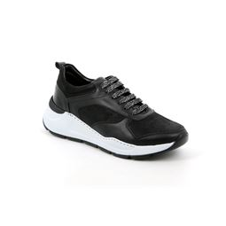 Sneaker in pelle total black
