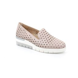 Slip on taglio mocassino con zeppa
