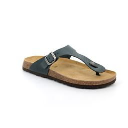 CB1637 flip flop man leather antracite 40
