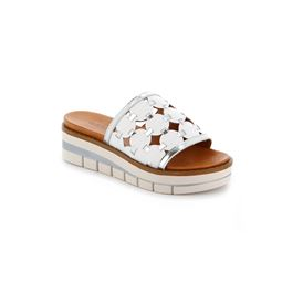 CI2873 slipper woman leather bianco argento 40