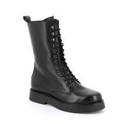 Hi-top shoes woman leather
