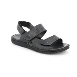 SA1514 sandal man leather black 40