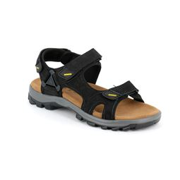 SA1856 sandal man leather and fabric black 40