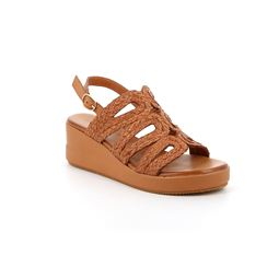 Sandal woman leather