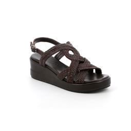SA2364 sandal woman leather testa di moro 40