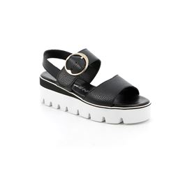 SA2395 sandal woman leather black 40