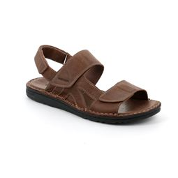 SA2461 sandal man leather castagno 40
