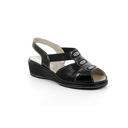 SA2530 sandal woman leather black 40