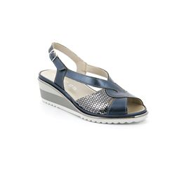 SA2532 sandal woman leather blue 40