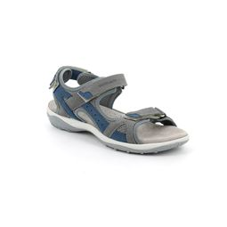 SA2562 sandal woman leather and fabric grigio jeans 40