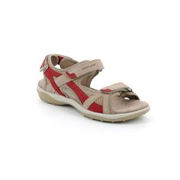 SA2562 sandal woman leather and fabric corallo beige 40