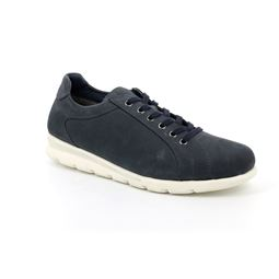 SC2459 shoe man leather blue 40