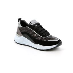 SC2462 sneaker woman leather and fabric black 40