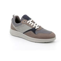 SC5100 shoe man leather and fabric grigio multi 40