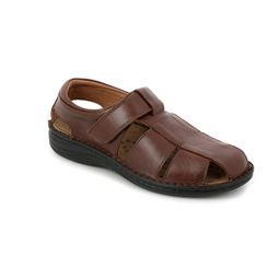 SE0015 sandal man leather cioccolato 40