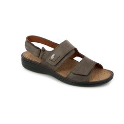 SE0066 sandal man leather testa di moro 40